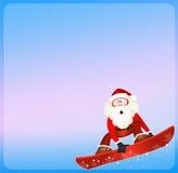 Santa Claus on snowboard Stock Photography