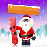 Santa Claus with snowboard Royalty Free Stock Image