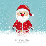 Santa claus snowflake background Stock Photography