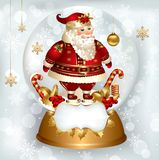 Santa Claus in snowglobe Stock Photo