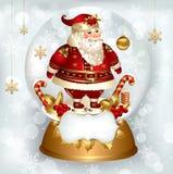 Santa Claus in snowglobe Stock Photo