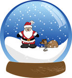Santa Claus Snowglobe Stock Photography