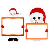 Santa Claus and snowman Royalty Free Stock Photography
