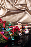 Santa Claus and snowman Royalty Free Stock Image