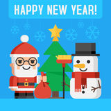 Santa Claus and snowman Royalty Free Stock Image
