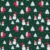 Santa Claus and snowmen Royalty Free Stock Photos