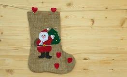 Santa claus sock or stocking Royalty Free Stock Photos