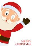 Santa Claus som önskar glad jul Arkivfoton