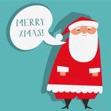 Santa Claus som önskar glad Xmas Arkivbild