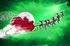 Santa Claus som levererar gåvor Royaltyfria Bilder
