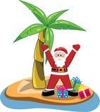 Santa claus in southern hemisphere. Xmas illustration of santa claus in southern hemisphere, vector royalty free illustration
