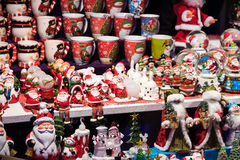 Santa Claus Souvenirs For Sale Royalty Free Stock Photos