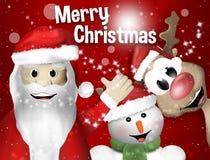Santa Claus Sowman and Reindeer Stock Photos
