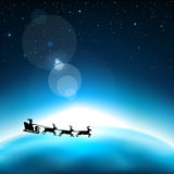 Santa claus in space Stock Images
