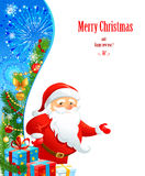 Santa Claus with space for text. Santa Claus on festive background with space for text Stock Images