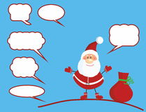 Santa Claus speaks Royalty Free Stock Images