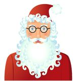 Santa Claus with spectacled isolated on white background vector. Illustration. Christmas. New year eps Stock Photo