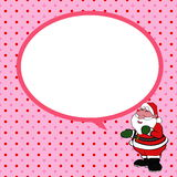 Santa claus  with speech bubble green background v Royalty Free Stock Image