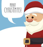 santa claus with speech bubble isolated icon design Royalty Free Stock Photography