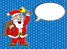 Santa Claus with speech bubble vector illustration