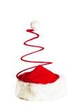 Santa Claus Spiral Hat isolou-se no branco imagens de stock
