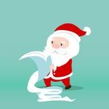Santa Claus sprawdza lista dla bożych narodzeń ilustracji