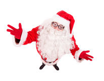 Santa Claus spread his arms wide Royalty Free Stock Images