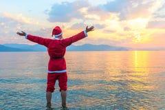Santa Claus standing barefoot Stock Photos