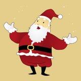 Santa Claus Standing con a braccia aperte Fotografia Stock Libera da Diritti