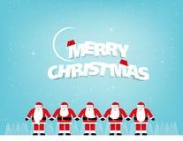 Santa Claus standing. Concept christmas vector illustration. Fes vector illustration