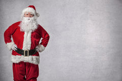 Santa Claus standing surprised Stock Photography