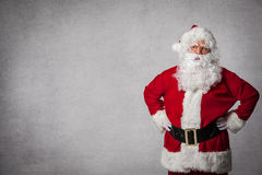 Santa Claus standing surprised Stock Images