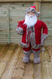 Santa claus is standing and waiting Royalty Free Stock Photos