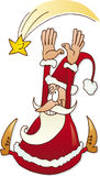 Santa claus with star. Illustration of happy santa claus with christmas star Stock Photography