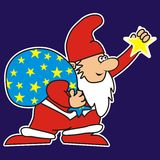 Santa Claus and Star Royalty Free Stock Image
