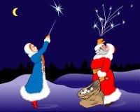 Santa Claus&stars Royalty Free Stock Photo