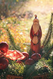 Santa Claus statue in warm light Royalty Free Stock Images