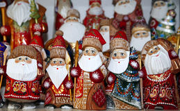 Santa claus statues as a background Stock Photography