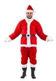 Santa Claus-Stellung Lizenzfreie Stockbilder