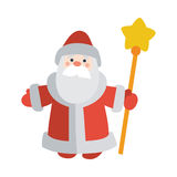 Santa Claus with Stick Isolated. Father Frost Royalty Free Stock Photo