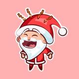 Santa Claus Sticker emoji emoticon Stock Photography