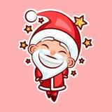 Santa Claus Sticker emoji emoticon. Sticker emoji emoticon, emotion walk, hang out, star, date vector illustration happy character sweet, cute Santa Claus Royalty Free Stock Photo