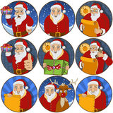 Santa claus stickers Royalty Free Stock Photo