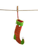 Santa claus stocking Royalty Free Stock Image
