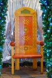 Santa Claus-stoel Royalty-vrije Stock Fotografie