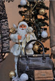 Santa Claus  in the store window Royalty Free Stock Photo