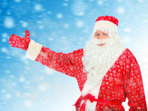 Santa Claus stretch his Hand Royalty Free Stock Photos