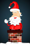 Santa Claus stuck in chimney Royalty Free Stock Photography