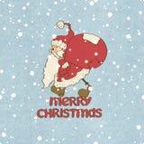 Santa Claus stuck and gift bag Royalty Free Stock Photo