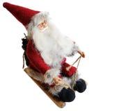 Santa Claus su un fondo bianco Immagini Stock Libere da Diritti